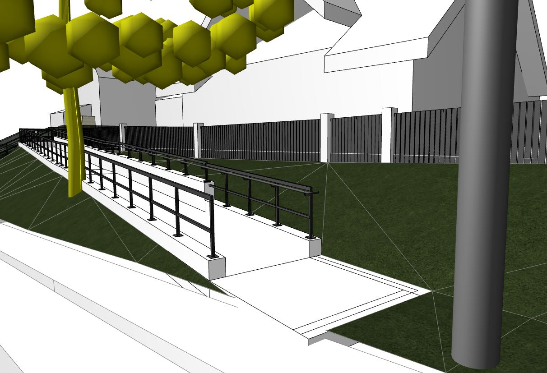 3D Entwurf Rampe seitlich